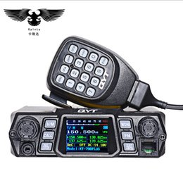 Walkie talkie car online shopping - QYT KT PLUS W high power mobile raido Dual Band Quad Display vhf quad band car Stazione Radio CB Walkie talkie per camion