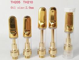 vape ceramic wick 2019 - bud touch pen top filling oil glass cartridge golden e cigarette tank ceramic coil wick less cartridge atomizer 0.5ml va