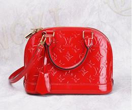 Organic wOOl felt online shopping - women fashion ALMA BB shell bag PU patent Leather handbags flower Embossed shoulder bags brand designer handbags high quality crossbody bag
