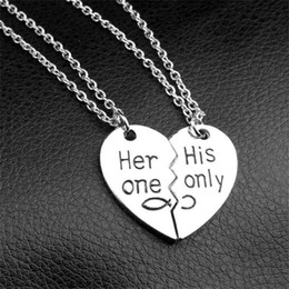 $enCountryForm.capitalKeyWord NZ - broken heart pendant necklace couple necklace hand stamped necklace jewelry for lover 2018 valentine's day gift
