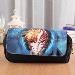 kuroko basket cosplay 2019 - BLEACH Cool Cosmetic Bags Fairy Tail Double Zipper Pen Bag Kuroko no Basket Stationery Bag Black Butler Cosplay Pencil C