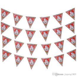 $enCountryForm.capitalKeyWord Canada - 8 pcs sets Santa Claus paper Banner Flag hang Pennants Arranged Christmas Party Banner Decorations Supplies flag Free shipping