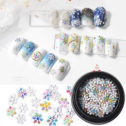 $enCountryForm.capitalKeyWord Australia - Colorful snow flakes ultra thin nail art sticker sequins christmas gift rainbow nail decals DIY 3D art decorations MZ051