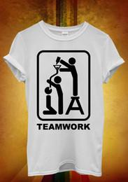 Beer Pipe Australia - Team Work Beer Bong Funnel Pipe Men Women Unisex T Shirt Tank Top Vest 688
