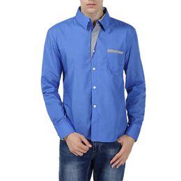 Shirt Korean Designs Australia - Vogue Nice New Fashion Brand Camisa Masculina Long Sleeve Shirt Men Korean Slim Design Formal Casual Male Dress Shirt Plus Size