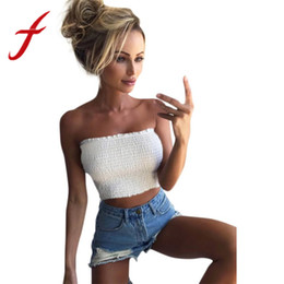 44d3bfa597 Feitong Summer Women Crop Tops Sexy Strapless Elastic Boob Bandeau Tube  Tops Bra Breast Wrap Camis Camisole female tank top 2018
