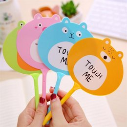 $enCountryForm.capitalKeyWord NZ - 4pcs lot Cartoon Creature Ballpoint Pen Kawaii Korean Stationery Supplies Touch Me Caneta Gift For Children Pens For Writing