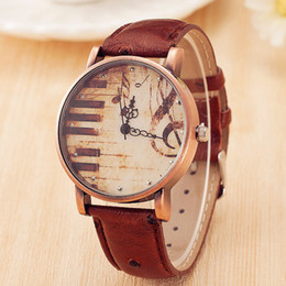 5677c20c Nuevo reloj de correa de bronce Señoras piano símbolo de la música reloj  Novia regalo Venta