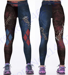 pink grey white leggings 2019 - Red Harleen Quinzel Rugby Baseball Training Trousers Harley Quin Yoga Workout Pants Blue Running Leggings Women Fitness