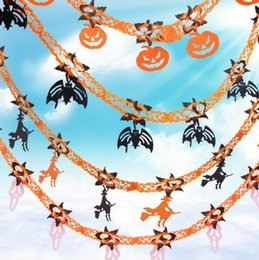 Halloween Party Decorations Bar Props Australia - Bar Club Halloween Party Garland Decorations Ghost Pumpkin Bat Spider Witch Style Kids Halloween Party Show Garland Props
