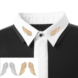 Gothic Christmas Gift NZ - Women Fashion Angel Wings Brooches for Women Collar Lapel Pin Brooches Gothic pins Christmas Gift Ornaments Accessories A0332