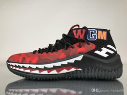 pretty nice b5e2a 75a3d New Release Dame 4 X Shark Camo Red Green Man Basketball Shoes WGM Sneakers  Damian Lillard 4s Authentic Quality Jiont Limited Come With Box