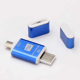 Pc Card Drive NZ - USB 2.0 2 in 1 OTG Card Reader Micro OTG TF SD Card Reader Flash Drive Adapter For Samsung Android  PC