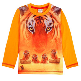 Orange T Shirts For Boys NZ - 2017 Free shipping novatx A5823 boys long sleeve t shirts boy clothes hot top baby clothes with carton picture t-shirt for baby