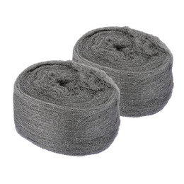 Metal Fines UK - Freeshipping 2 Pcs lot Steel Wool 0000 Ultra Fine Metal Fibre Wool Pads For Stone and Wood Grinding Polishing Hand Tools