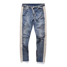 cc7f2d106b NUEVA RETRO DENIM - pantalones de jeans de estrella de rock negro hip hop hombres  de moda