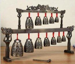 Campanellini in ottone con dragone cinese Tibet glockenspiel in Offerta