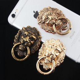 Wholesale Universal Retro Lion Style Finger Ring Holder Phone Holder Stand For iPhone s Samsung Cell Phone