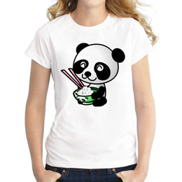 women panda tee NZ - Women's Tee 2018 New Arrivals Creative Design Women T-shirt Fashion Sushi Panda Printed Tee Shirt Short Sleeve Funny T Shirts