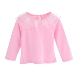Long Collar Shirts For Girl Australia - 0-24M Baby Girl Cute Turn-down Collar Long Sleeve Lace Blouse Button Down Shirt Children\\\'s Clothing For Girls clothing