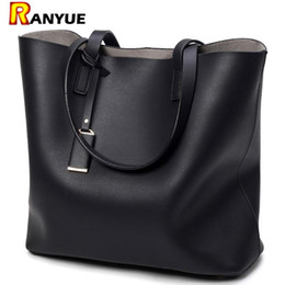 Sh Fashion UK - Luxury Handbags Women Bags Designer High Quality Leather Women Bag Black Big Solid Women Sh oulder BagsLarge Capacity Tote Bag
