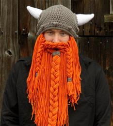 $enCountryForm.capitalKeyWord NZ - Handmade Funny knitted hats Winter Wool Mustache Braid caps pirate wig beard beanies Viking horn Hobo Uncle Wildling face mask C18111601