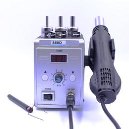 rework hot air solder 2018 - New Hot Air Gun 858D 700W BGA Rework Solder Station Soldering Heat Air Gun Station 220V   110V For SMD SMT Welding Repai