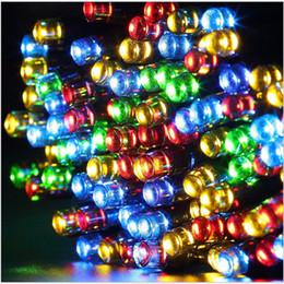 Discount solar lights for christmas trees - Wholesale- Solar power led holiday light ,led Christmas light ,12M  22M  32M  52M led string for garden ,trees ,housing