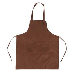 $enCountryForm.capitalKeyWord Australia - Hot Sale 1PCS Beautiful Women Men Cooking Kitchen Apron 6 Colors PureColor For Chef Waiter Cafe Shop BBQ Hairdresser Aprons Gift