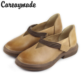 773afca50cfc1 Careaymade-In the spring and Autumn period, the new type of leather is  painted by hand shoes,the retro art mori girl Flats shoes