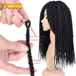 $enCountryForm.capitalKeyWord NZ - Ombre Grey Crochet Hair Synthetic Fiber Box Braids Braiding Hair Extensions African American Woman Braided Hair 14 18 22inch 22 strands pack