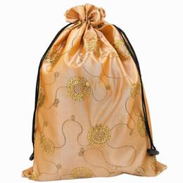 $enCountryForm.capitalKeyWord Canada - Fashion Sequin Drawstring Shoe Bags for Travel Storage Protective Case Dust Bags Satin Fabric Bra Underwear Pouch QW8185