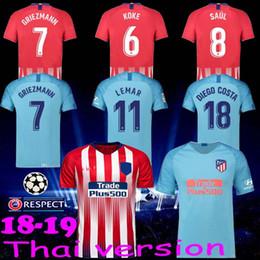 c5e8a064c63 ... uk mens 7 griezmann 2019 madrid atletico home jersey 8 saul 6 koke  soccer shirt 18