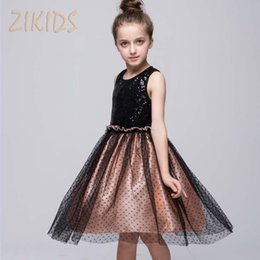 aed09330f78866 Luxury Elegant Girls Dresses for Weddings Party Sequined Princess Evening Dress  Girl Children Clothing Kids Clothes 2017 Spring