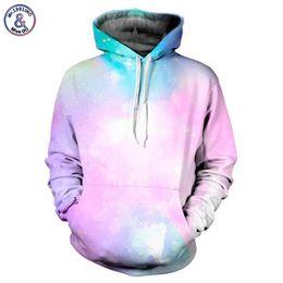 Galaxy Sweatshirt Brand NZ - Mr.1991INC Space Galaxy Hoodies Men women Sweatshirt 3d Men Hooded Hoodies Cap Hoody Long Sleeve lovely Tracksuits Brand
