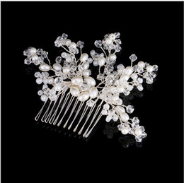 Hair For Weddings Hairstyles NZ - 2018 Hairstyles Bridal Headpieces for Women Crystal Flower Hair Combs Wedding Hair Accessories Fascia Capelli Accessoire Cheveux Wholesale