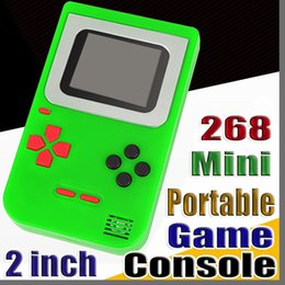 """handheld pocket games 2019 - 2018 Gift Retro Classic Childhood Tetris Portable Handheld Game Players 2"""" Screen Video Pocket Game Consoles Games"""