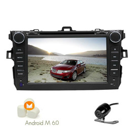 rear touch screen Canada - Android 6.0 Quad Core Car DVD Player Double Din 7'' Touch Screen GPS Car Stereo Navigation for Toyata Corolla In Dash Bluetooth