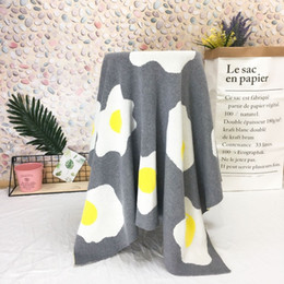 $enCountryForm.capitalKeyWord Australia - mylb Ins2018 fried eggs knitted jacquard quilt fashion baby cotton blanket adults children lunch break blanket air conditioning