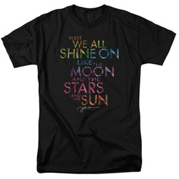 Shirt X S Australia - Authentic John Lennon We All Shine On Moon Stars Signature T-shirt S M L X 2X 3X Mens 2018 fashion Brand T Shirt O-Neck 100%cotton