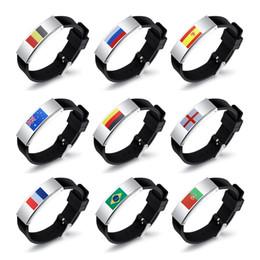 Gel fan online shopping - World Cup Mens Bracelets National Flag Designer Bracelet Silica Gel Adjustable Fan Wristband Football Keepsake ty UU