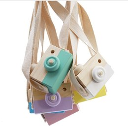 Wholesale Cute Wooden Toy Camera Baby Kids Hanging Camera Photography Prop Decoration Children Educational Toy Birthday Christmas Gifts