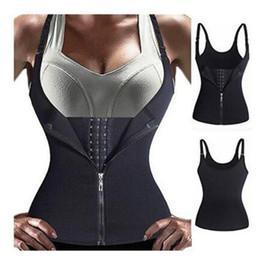 $enCountryForm.capitalKeyWord UK - New Bodysuit Women Slimming Zipper Waist Trainer Cinta Modeladora Hot Body Shaper Tummy Waist Cincher Tank Corrective Shapewear