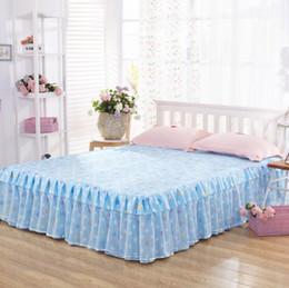pink ruffle bedspread 2019 - Bedspread Bed Skirt Ruffles bedding Bed sheet Cotton Pillowcase Home Decorative Twin Queen King Size discount pink ruffl