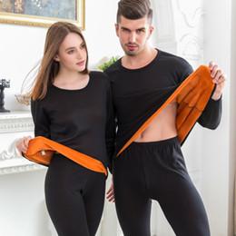19af39633b VelVet men pajamas online shopping - Men Women Warm Layered Velvet Thick  Thermal Underwear Sets for