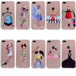 Iphone sIlIcone art cases online shopping - Art Pattern Clear Ultra Thin TPU Soft Slim Flexible Silicone Glossy Phone Case For iPhone X S Plus SE S Transparent Back Cover