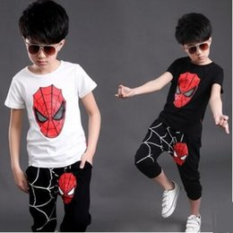 $enCountryForm.capitalKeyWord Canada - Spiderman Baby Boys Kid SportsWear Tracksuit Outfit cartoon Suit Summer kids boys clothes longsleeve clothing set