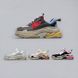 Speed S online shopping - 2018 Best Luxury Triple S Designer Low Sneakers Thick Soles Speed Boots designer Men Women Runner Shoes Custom Brand Sports Casual Shoes