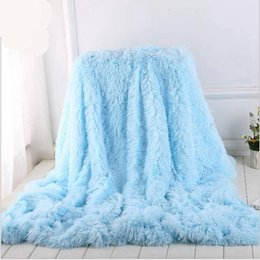 Discount purple photography backdrops - Kids Adult Blankets Fluffy Plush Throw Blanket Fleece Solid Shawl Towel Photography Backdrops Prop 130*160cm & 160*200cm
