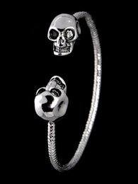 Indian Coral Beads Australia - High Quality Celebrity design MQ bracelet Fashion show Classic style Bracelets Fashion metal Skull bracelet Jewelry With Box